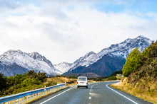 A Road To The Snow Mountain. Fiordland, New Zealand.
