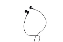 Black Headphones Close Up On A...