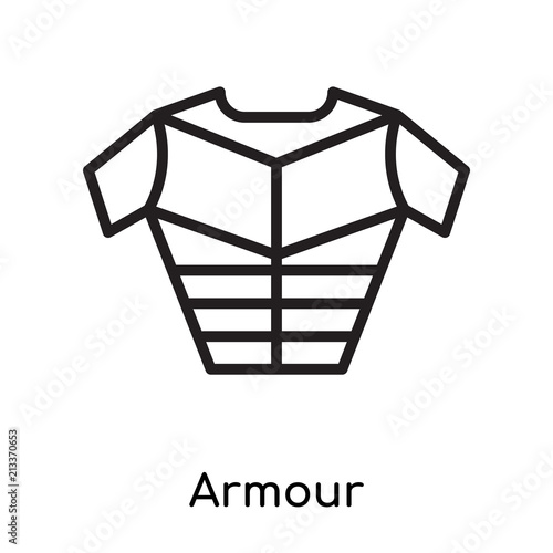 Armour icon vector sign and symbol isolated on white background, Armour logo con Poster