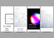 The minimalistic vector layout of flyer, banner design templates. SPA and healthcare design, sci-fi technology background. Abstract futuristic or medical consept backgrounds to choose from.