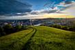 Blick über Linz in Oberösterreich