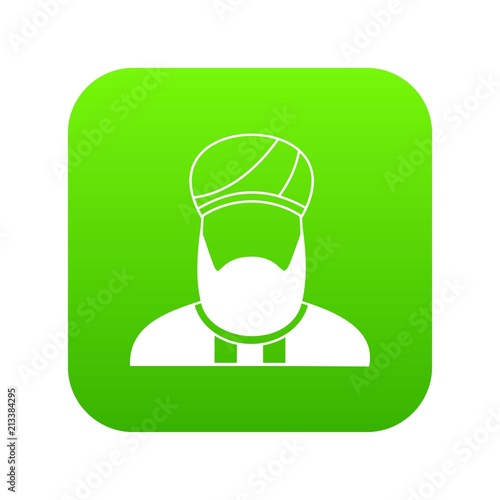 Fotografie, Obraz  Muslim preacher icon digital green for any design isolated on white vector illus