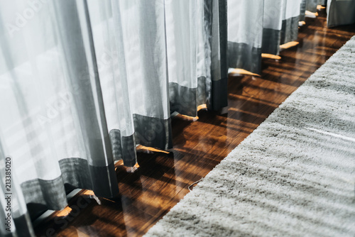 The curtain in living room in sunny day Fototapet