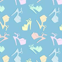 Vector Pole Dance Shoes. Exoti...