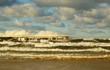 Molo w Kołobrzegu podczas sztormu