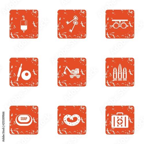Fotografie, Obraz  Strengthening icons set