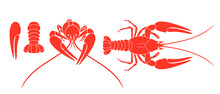 Crayfish Logo. Isolated Crayfi...