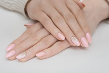Hands With Manicured Nails Cov...