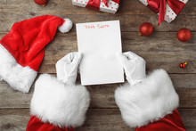 Santa Claus Reading Letter Fro...