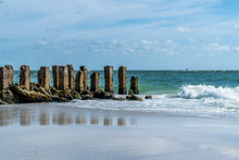 A Warm And Breezy Day At The Beach On Anna Maria Island In Southwest Florida.