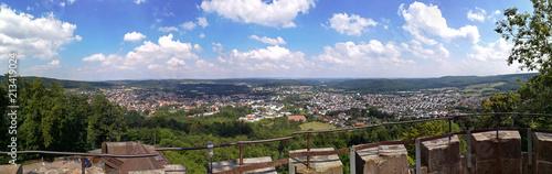 Fotografie, Obraz  Schöne Aussicht vom Burgturm der Iburg bei Bad Driburg