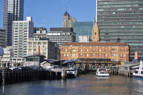 Fotobehang Oceanië Auckland Ferry Terminal New Zealand
