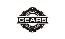 Black And White Gear Logo Design Inspiration