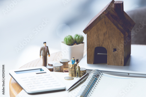 Fotografiet preparation concept for house model purchase and the fastest growing real estate