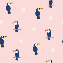 Seamless Pattern Of Toucan