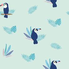 Seamless Pattern Of Toucan