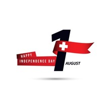 Happy Switzerland Independence Day 1 August Vector Template Design