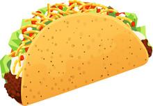 Crispy Ground Beef Taco With S...