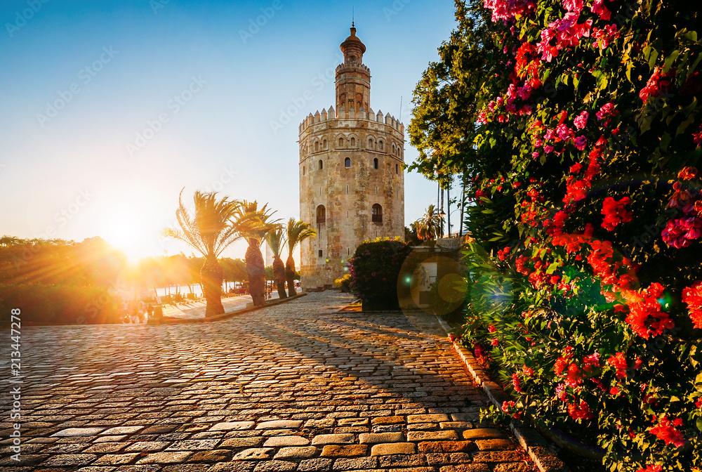Fototapety, obrazy: Torre del Oro, Seville, Spain