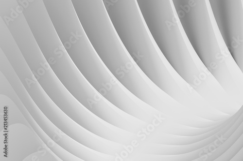 Papiers peints Tunnel Abstract background from a serpentine flowing waves. 3d illustration