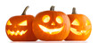 canvas print picture Halloween Pumpkins on white