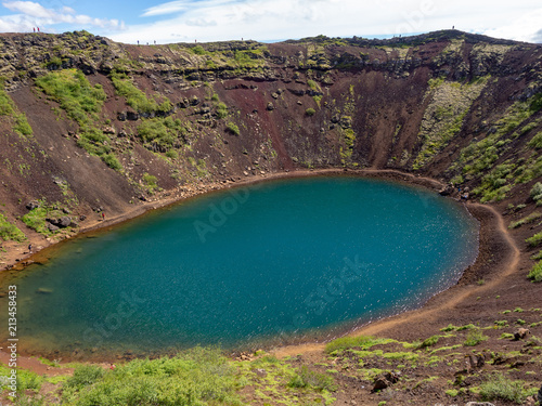 Obraz Kerid - Crater lake on golden circle in Iceland - fototapety do salonu