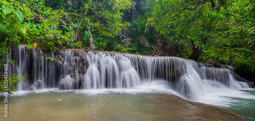 Recess Fitting Waterfalls Beautiful waterfall in tropical rainforest at Kanchanaburi province, Thailand