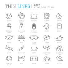 Collection Of Sleep Related Ic...