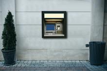 Modern Street ATM Machine For ...