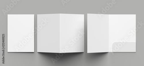 Fotografia A4 size single pocket reinforced folder mock up isolated on gray background