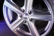 alloy wheel on dark background
