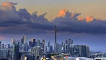 Aerial View Of Toronto City Fr...
