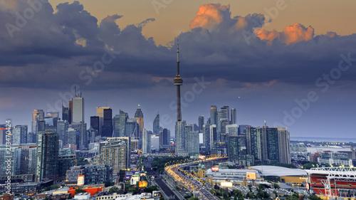 Zdjęcie XXL Widok z lotu ptaka Toronto miasto od above, Toronto, Ontario, Kanada