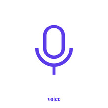 Voice Icon Vector. Modern, Sim...