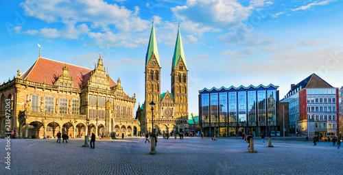 Bremer Marktplatz mit Rathaus und Dom