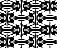 Seamless Black-white  Geometri...