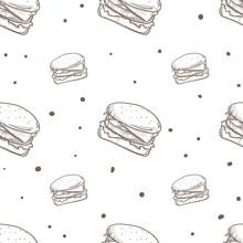 Pattern Hamburger Drawing Graphic Background