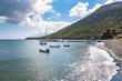 Yachts at the marina on Vulcano Island