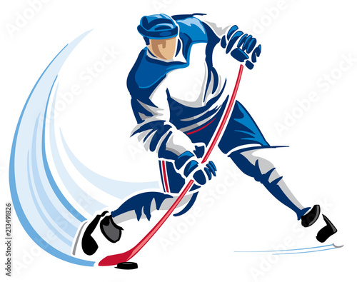 Hockey player Wallpaper Mural