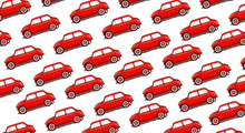 Pattern Of Small Red Cars