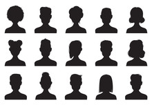 Users Silhouette Icons. Male A...
