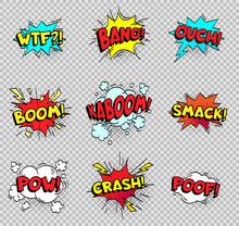 Comic Speech Bubbles. Cartoon ...