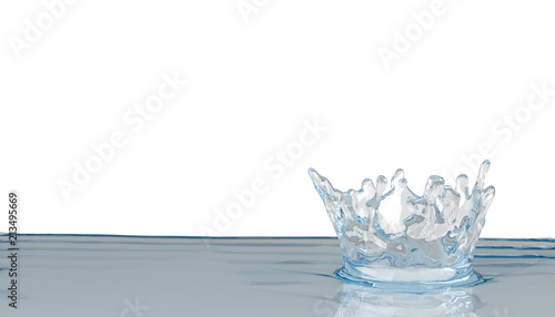 Fotobehang - water splash on white background 3D render