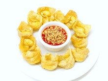 Crab Rangoon Served With Sweet...