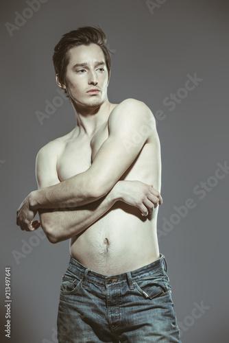 Foto op Aluminium Akt shirtless sexy boy
