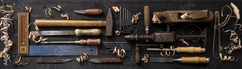 Fotografia  Arbeitstisch mit Werkzeug