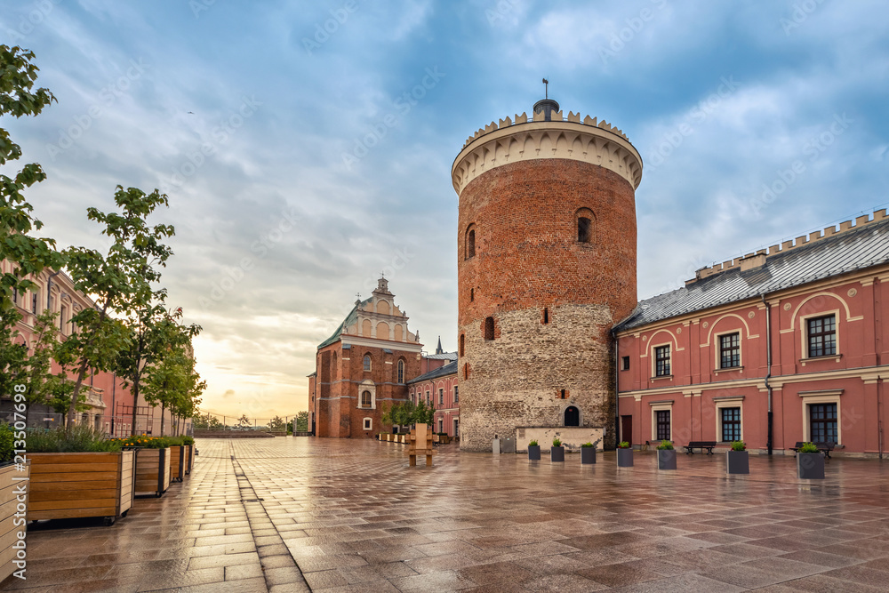 Fototapety, obrazy: Romanesque castle tower in Lublin, Poland