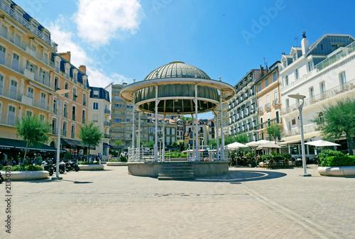 Historical center of Biarritz, France