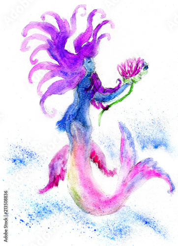 Strange mermaid art