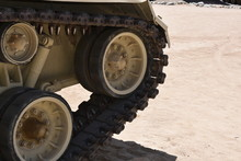 Closeup Of Army Tank Tread